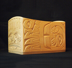 Yellow Cedar Carving From British Columbia, Canada