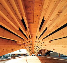 Western Hemlock Wooden Structure | Lumber From British Columbia
