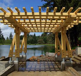 Yellow Cedar Garden Structure