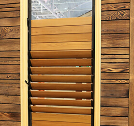 Western Red Cedar Slated Panels