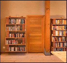 Douglas Fir Wood Book Shelf - Canadian Wood