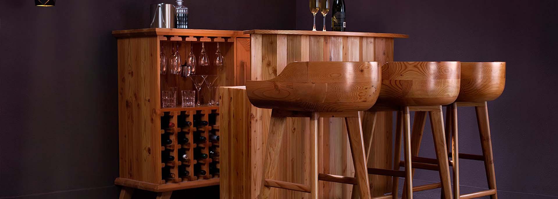 Douglas Fir Bar Table & Chair