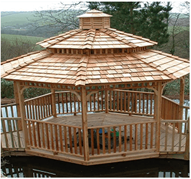 Soft Wood Gazebo - Western Red Cedar