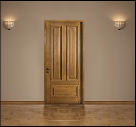 Brown Soft Wooden Door - Canadian Wood
