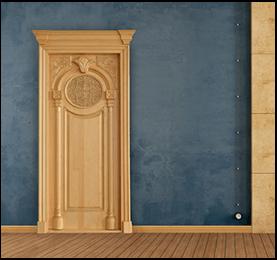 Light Brown Soft Wooden Door - Canadian Wood