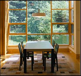 Yellow Cedar Wooden Window - Canadian Wood
