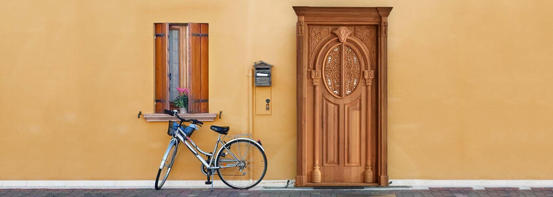 Carved Western Red Cedar solid wooden door
