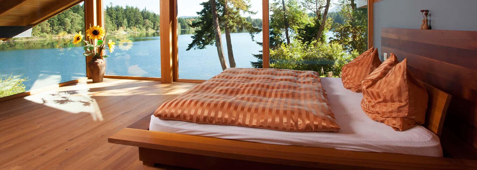 Douglas Fir planks for Decks & Bed