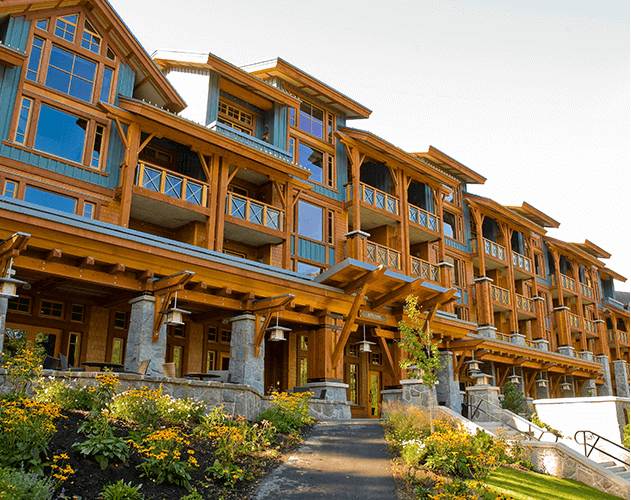 Nita Lake Lodge<abbr>Whistler, B.C. Canada<br>Western red cedar siding, Douglas fir columns, beams and planks</abbr>