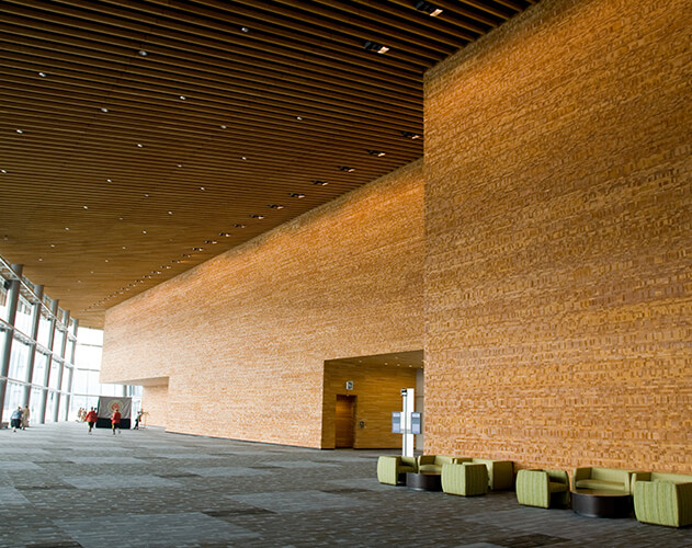 Vancouver Convention Centre<abbr>Vancouver, B.C. Canada<br>Western hemlock architectural millwork </abbr>