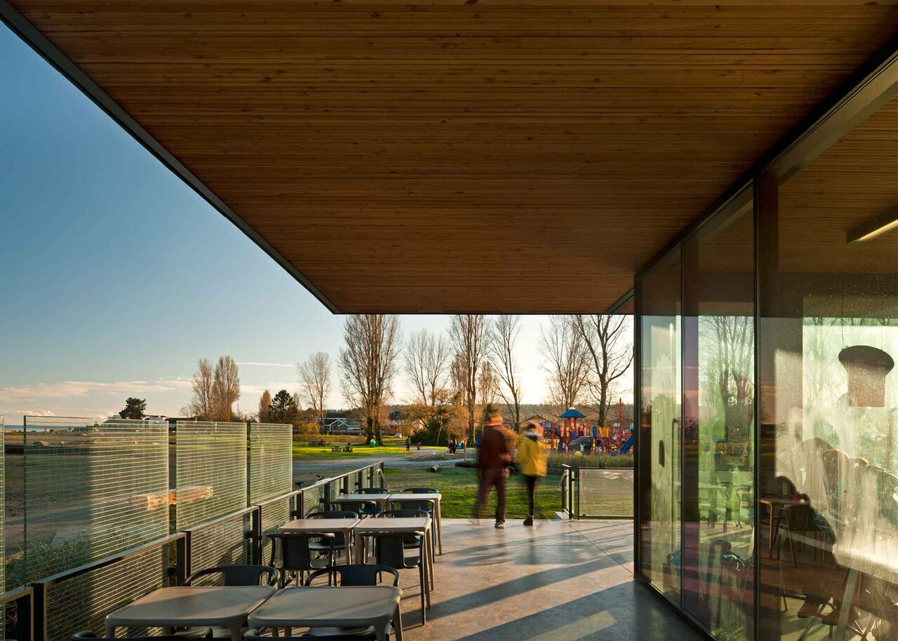 Centennial Beach Pavillion<abbr>Delta, B.C. Canada<br>Nail-laminated timber panels</abbr>