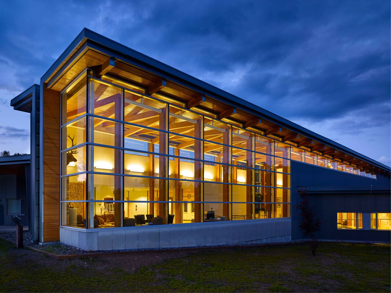 Prophet River Multiplex<abbr>Prophet River, B.C. Canada<br>Douglas fir glulam posts, tongue and groove roof decking</abbr>