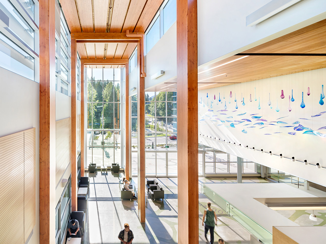 Delbrook Community Recreation Centre<abbr>North Vancouver, B.C. Canada<br>Douglas fir glulam columns, beams, purlins, planks and I-joists</abbr>
