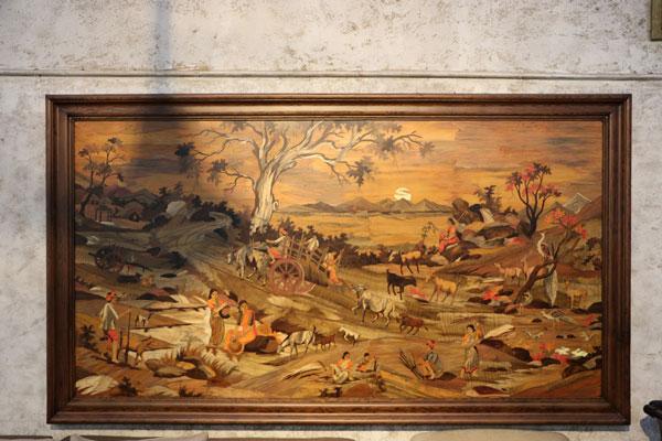 Western hemlock wall frame