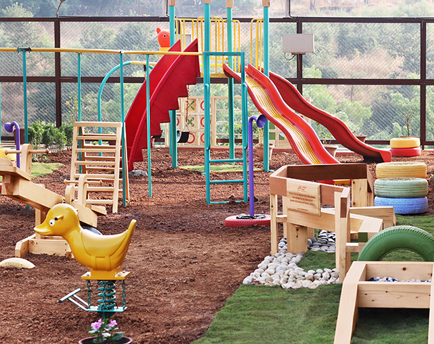 Aseema Bal Shaikshanik Kendra<abbr> Igatpuri, Maharashtra <br>Yellow cedar and western red cedar playground equipment</abbr>