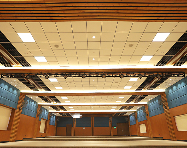 Convent School of Jesus & Mary <abbr>Ambala, Haryana<br> Douglas fir acoustic panels</abbr>